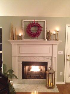 Christmas fireplace mantle #christmasdecor #christmasmantle #christmasfireplace