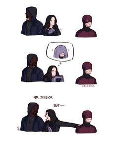 I don't think Jessica understands how Matt's senses work.