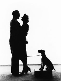 Nick, Nora and Asta (William Powell, Myrna Loy and Skippy)