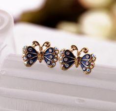 Radiant Butterfly Stud Earrings $5.98