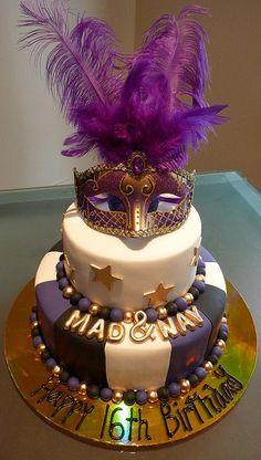Masquerade Cake by Cre8acake, via Flickr