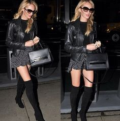 Candice's playful skirt & wicked boots