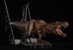 This exclusive and highly detailed scale statue features the female T-Rex as she roars in triumph after setting herself free from her pen as seen in the classic film Jurassic Park. Amblin Entertainment, Beautiful Film, Steven Spielberg, Classic Films, Jurassic Park, Universal Studios, T Rex, Lion Sculpture, Cinema