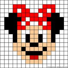Minnie Mouse perler bead pattern. FREE GRAPH 11/14.