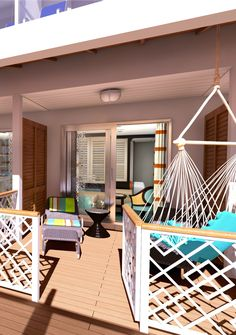 Our favorite thing about Carnival's newest ship, the Vista, are the Havana Cabana cabins with lanais that open up right onto the pool deck. Guests in these cabins get exclusive access to the pool all day long. And a hammock. Amazing. @carnivalcruise