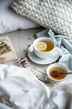 Té miel desayuno