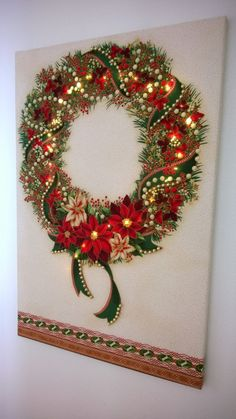 Free instructions for this Fabric panel, canvas and firefly lights project on the Craft Warehouse Create blog. #diyholidaydecor #craftwarehouse craftwarehouse.com