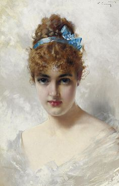 PORTRAIT OF A YOUNG WOMAN IN WHITE - Vittorio Matteo Corcos (italian, 1859-1933) | Flickr - Photo Sharing!