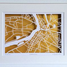 BBpapercuts make papercut maps of Cities, Towns and Villages. Us Map, Me On A Map, Ireland Map, Map Shop, First Wedding Anniversary, Irish Art, Custom Map, 60th Birthday, Thoughtful Gifts