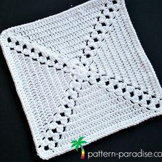 Free Crochet Pattern: Casablanca Crochet Square | Pattern Paradise Free Crochet Square, Crochet Squares Afghan, Crochet Square Patterns, Crochet Stitches Patterns, Granny Squares, Crochet Ideas, Stitch Patterns, Crochet Mandala Pattern, Tapestry Crochet