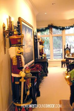 Nutcrackers galore! from HOMEWARDfoundDecor.com