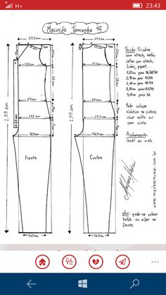 Best 12 Corte e costura – SkillOfKing. Jumpsuit Pattern, Pants Pattern, Make Your Own Clothes, Diy Clothes, Dress Sewing Patterns, Clothing Patterns, Costura Fashion, Crochet T Shirts, Sewing Pants