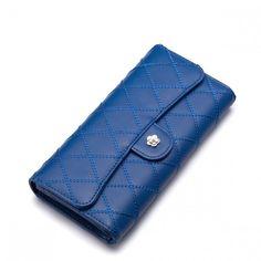 f0d54e9411160 NUCELLE haftowany portfel skórzanyNiebieski damski - 4863337916 - oficjalne  archiwum allegro