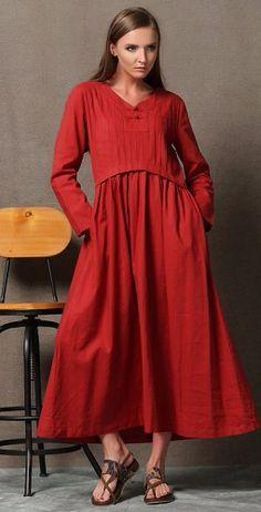 Linen Tunic Dress Boho Льняное платье туника Бохо