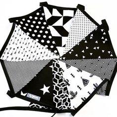 Zwart/wit vlaggenlijn