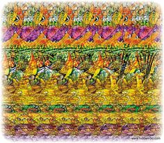 Hidden 3D Picture Puzzles | LOT OF 7 Stereogram Posters Hidden 3D Illusion Ganesha | eBay