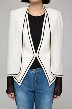Cape Coat with Contrast Trim {under $100}