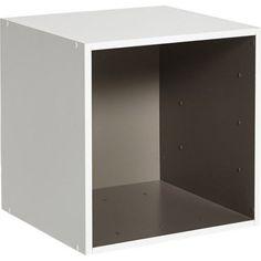 Etagère 1 case MULTIKAZ, taupe blanc H.35.2 x l.35.2 x P.31.7 cm