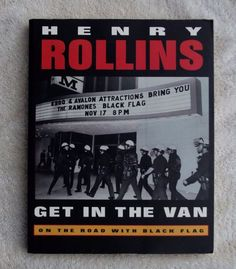 Get in the Van by Henry Rollins (second edition) 1995 PB excellent condition