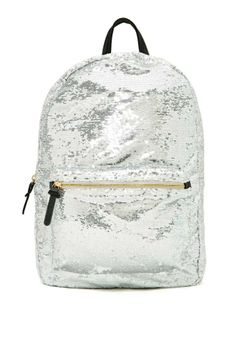 Michael Kors OFF! Too-cool-for-school backpack boasting an all over silver sequin detailing. Sequin Backpack, Backpack Purse, Fashion Backpack, Crossbody Bag, Cute Backpacks, School Backpacks, Cute Purses, Purses And Bags, Brand Name Bags
