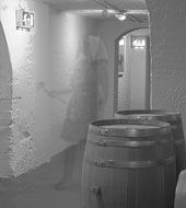 Thanks very much to Mr F. Enstein who emailed this strange photo to us after taking part in last week's distillery tour.