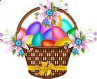 Easter Basket with Yellow Ribbon Birthday Logo, Happy Easter Wishes, Easter Backgrounds, Boyfriend Crafts, Easter Pictures, Pink Tulips, Valentine's Day Diy, Valentines Diy, Easter Baskets