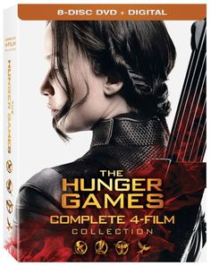 """Experience the epic adventure of The #Hunger #Games series—from start to finish—in this action-packed collector's set! Follow #Katniss Everdeen's transformation from Tribute to """"The Girl on Fire"""" to the symbolic leader of the rebellion, The #Mockingjay, in this thrilling collection that movie lovers will treasure. Featuring all four films, The #Hunger #Games #Collection contains over 14 hours of special features. #DVD #Catching #Fire #Mockingjay #TheHungerGames"""