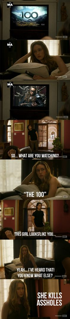 Alicia watching Lexa! If there will ever be a time for her to be a badass on this show... just kill Chris, please! That psycho weird motherfucker!