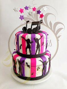 Caketutes Cake Designer: Bolo Dance - Dance Party cake