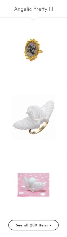 """Angelic Pretty III"" by i44ooo ❤ liked on Polyvore featuring rings, angelic pretty, jewelry, lolita, accessories, feather ring, feather jewelry, cross rings, cross jewelry and crucifix ring"