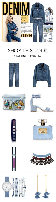 """""""bring the game back on"""" by angeleshiny ❤ liked on Polyvore featuring H&M, Rebecca Minkoff, Gianvito Rossi, Marc Jacobs, Versace, La Prairie, Charlotte Russe, A.X.N.Y., Ben-Amun and StreetStyle"""