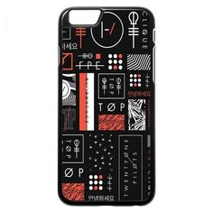 Twenty One Pilots iPhone 5 5s Case (symbols blk wht red) ($97) ❤ liked on Polyvore featuring accessories, tech accessories, phone cases, phone, band merch and tech
