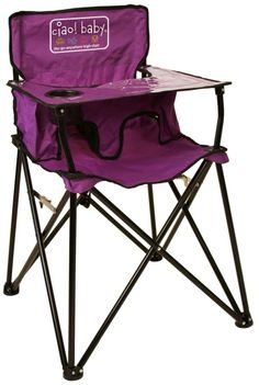 Go anywhere AND enjoy an easy cleanup with the Ciao Baby portable high chair! http://site.pishposhbaby.com/blog/2014/01/26/featured-brand-ciao-baby/
