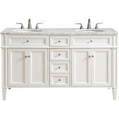 Elegant Decor 60 Inch Double Bathroom Vanity Set In White Steam Showers Bathroom, Bathroom Faucets, Bathroom Storage, Bathroom Organization, Bathroom Mirrors, Remodel Bathroom, Bathroom Cleaning, Bathroom Cabinets, Vanity Set