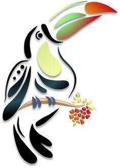 Best Ideas For Silhouette Art Painting Stencils Shape Stencil Patterns, Stencil Painting, Fabric Painting, Stencil Designs, Bird Silhouette Art, Bird Illustration, String Art, Bird Art, Paper Art
