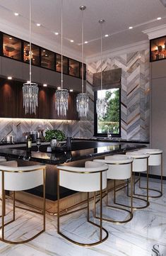 Home Decor Ideas gathered a few modern kitchen ideas, from the world's top interior designers, so you too can feel inspired to renovate your luxury kitchen. Luxury Kitchen Design, Design Your Kitchen, Best Kitchen Designs, Luxury Kitchens, Interior Design Kitchen, Interior Decorating, Decorating Ideas, Interior Ideas, Küchen Design