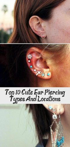 Top 10 Cute Ear Piercing Types And Locations Types Of Ear Piercings, Cute Ear Piercings, Tiny Stud Earrings, Triangle Earrings, Minimalist Earrings, Minimalist Jewelry, Artisan Jewelry, Tumblr, Top