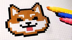 Handmade Pixel Art - How To Draw Kawaii Dog #pixelart
