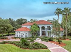 LHM Tampa Bay - Former NHL Star's Estate #LuxuryHomes #Frontyard #Palms
