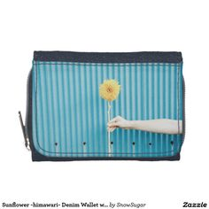 Sunflower -himawari- Denim Wallet with Coin Purse