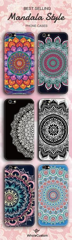 6 All Time favourtie Mandala Lace Phone protective phone cases | Colorful mandala Phone cases | 45%Off Now + Free Shipping + $10 Off For 2 Cases | More Info >>> wholecustom.com @WholeCustom
