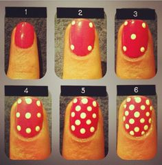 How to polka dot nails the right way tutorial - pattern