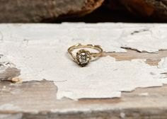 Half Carat Naples Diamond Engagement Ring  14kt by OliviaEwing, $1800.00