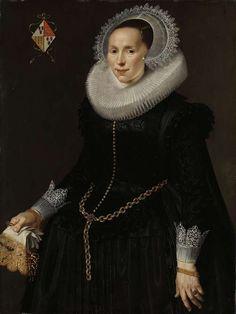 Portrait of Johanna Le Maire. ca. 1622 - ca. 1629 by Nicolaes Eliasz. Pickenoy