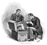 Sherlock Holmes In The Musgrave Ritual drawn by Sidney Paget