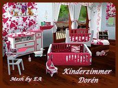 Sims 3 nursery, kids, room, furniture