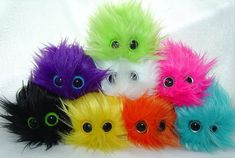Adopt a MINI MONSTER BARF plushie any furry and fluffy monster your color choice They come in their very own mini monster barf bag on Etsy, $4.99