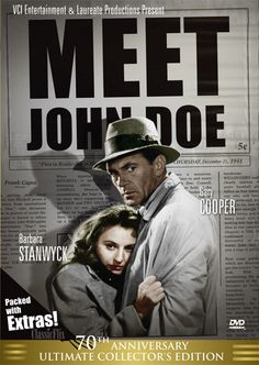 """Starring Barbara Stanwyck, this Film Noir Christmas classic is the perfect film to watch during the holidays! Watch """"Meet John Doe"""" for free! Romantic Christmas Movies, Frank Capra, Gary Cooper, John Doe, Barbara Stanwyck, 70th Anniversary, Old Movies, Streaming Movies, Classic Movies"""