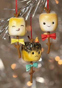 roasted marshmallow ornaments