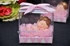 Queen Baby Shower Favors Pink Sleeping Baby Girl Favor Gift Cake Topper